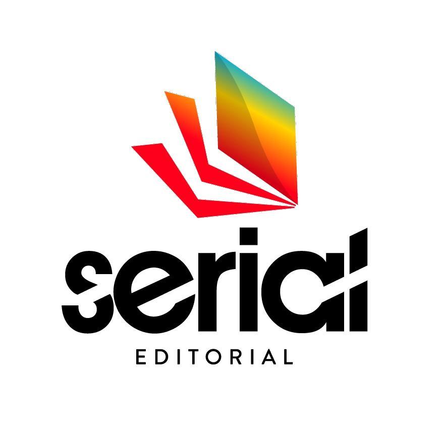 """Logo de Serial Editorial. Icono de un libro en colores rojo, naranja, amarillo y celeste. Debajo, las letras de las palabras """"serial"""" y """"editorial"""" en color negro. Lo dirigirá al sitio web de Serial Editorial."""