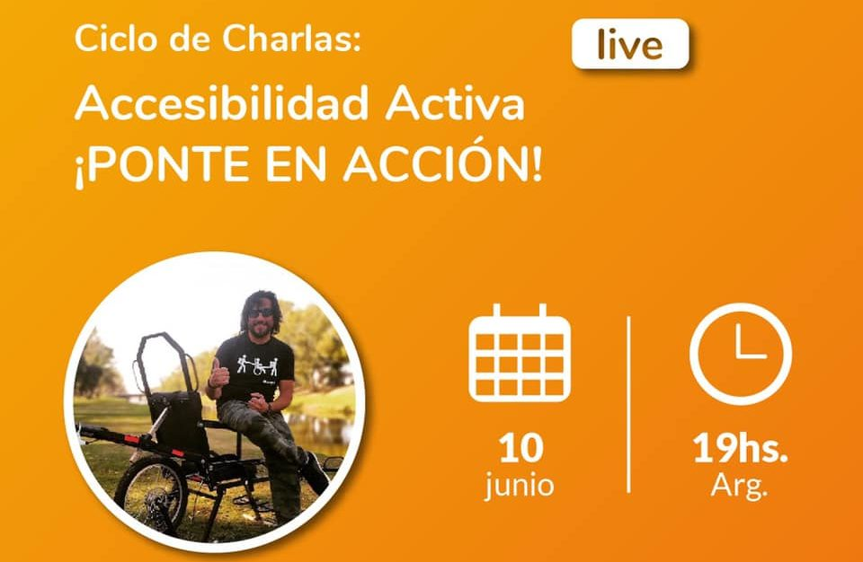 Image of Alejandro Piccione, activist of universal design, accessible tourism and creator of the first adapted trekking chair designed in Argentina, the ChampaBike.