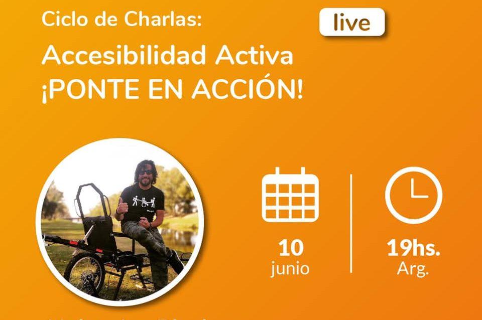 Imagen de Alejandro Piccione, activista del diseño universal, turismo accesible y creador de la primera silla de trekking adaptado diseñada en Argentina, la ChampaBike.