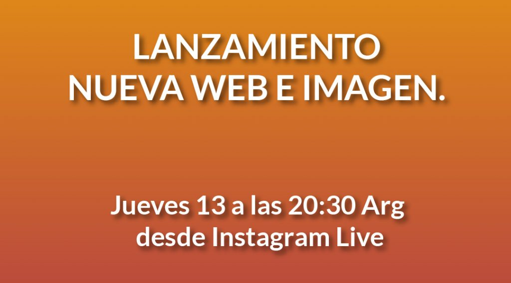 Imagen del LANZAMIENTO NUEVA WEB E IMAGEN. Jueves 13 a las 20:30 Arg En vivo desde nuestra cuenta de Instagram en www.Instagram.com/Comparlante