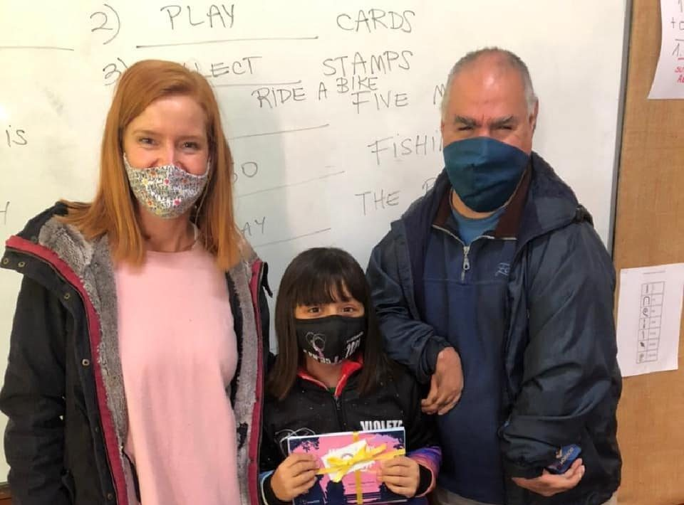 Image of Lorena Julio, Horacio Rios and Violeta Incaminato Navarrete; one of the participants of the contest