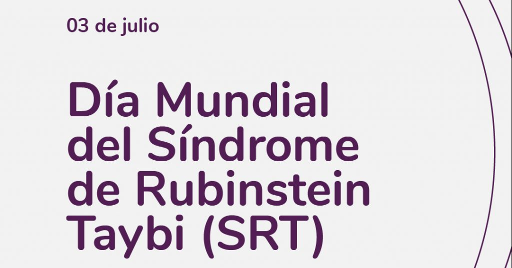 Image on white background, in the center typography of the SRT world day. Comparlante Foundation logo.