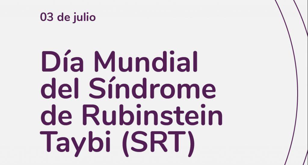Imagen en fondo blanco, en el centro día mundial del SRT. Logotipo Fundación Comparlante.
