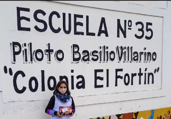 Imagen de Ines participante de Mi Mundo a mi Manera en su escuela.