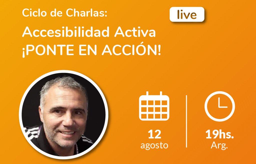 Imagen de ciclo de charlas accesibilidad activa. Andrés Buey, especialista en deportes adaptado.
