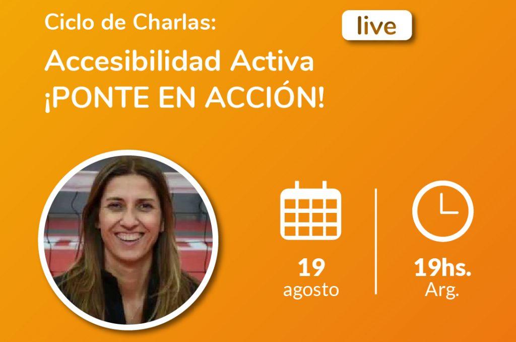 Imagen de ciclo de charlas accesibilidad activa. Claudia González, referente argentina del sitting volleyball.