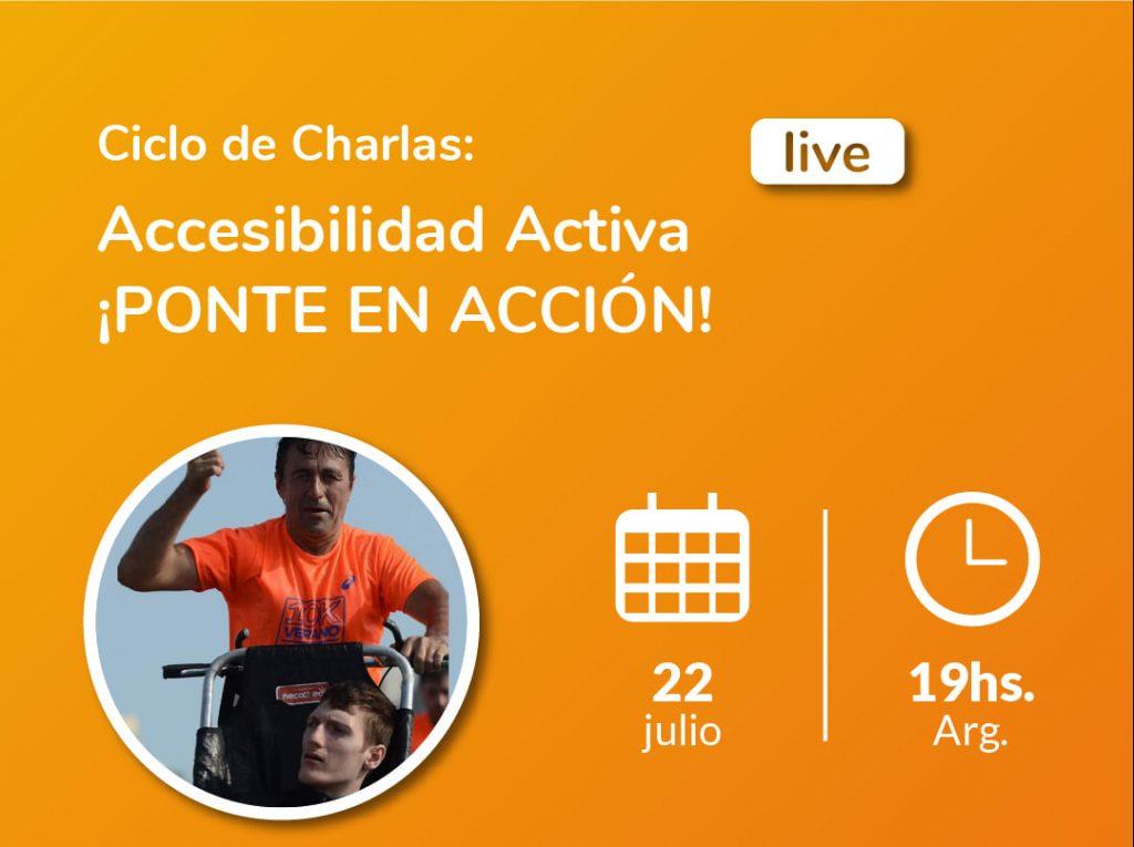 Imagen de Ciclo de charlas: Accesibilidad Activa: Gustavo y Damian Bardin. Atletismo asistido. Logotipo Fundación Comparlante.