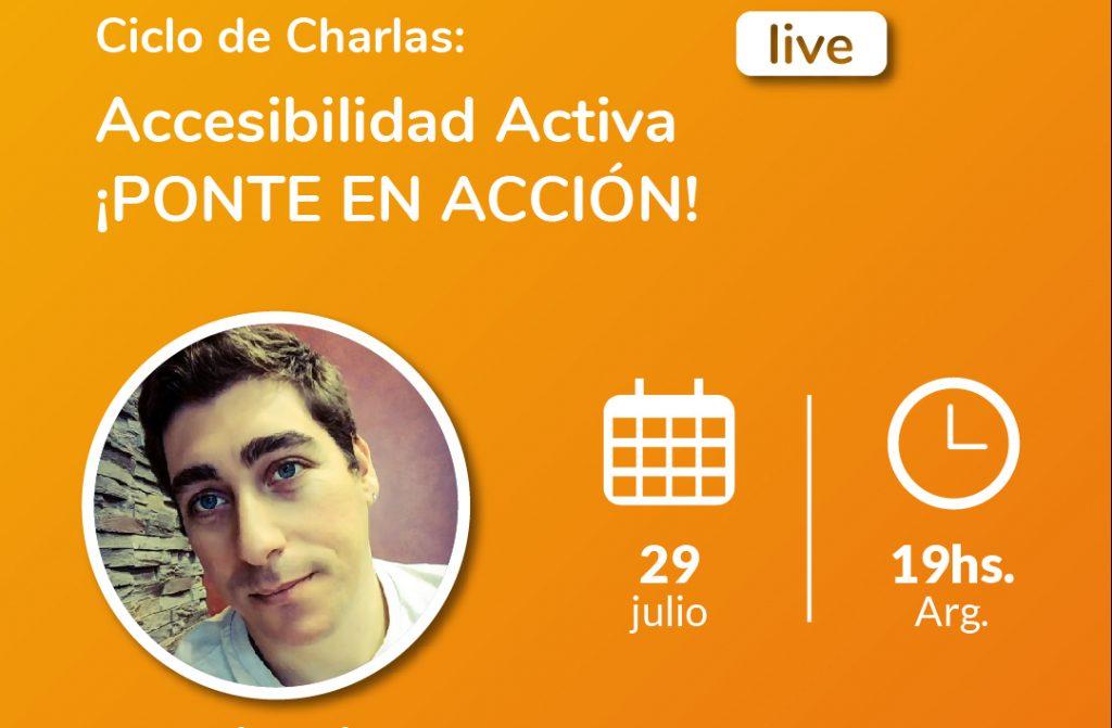 Imagen de Ciclo de charlas: Accesibilidad Activa. Ignacio Villanova, boxeador. Logotipo Fundación Comparlante.