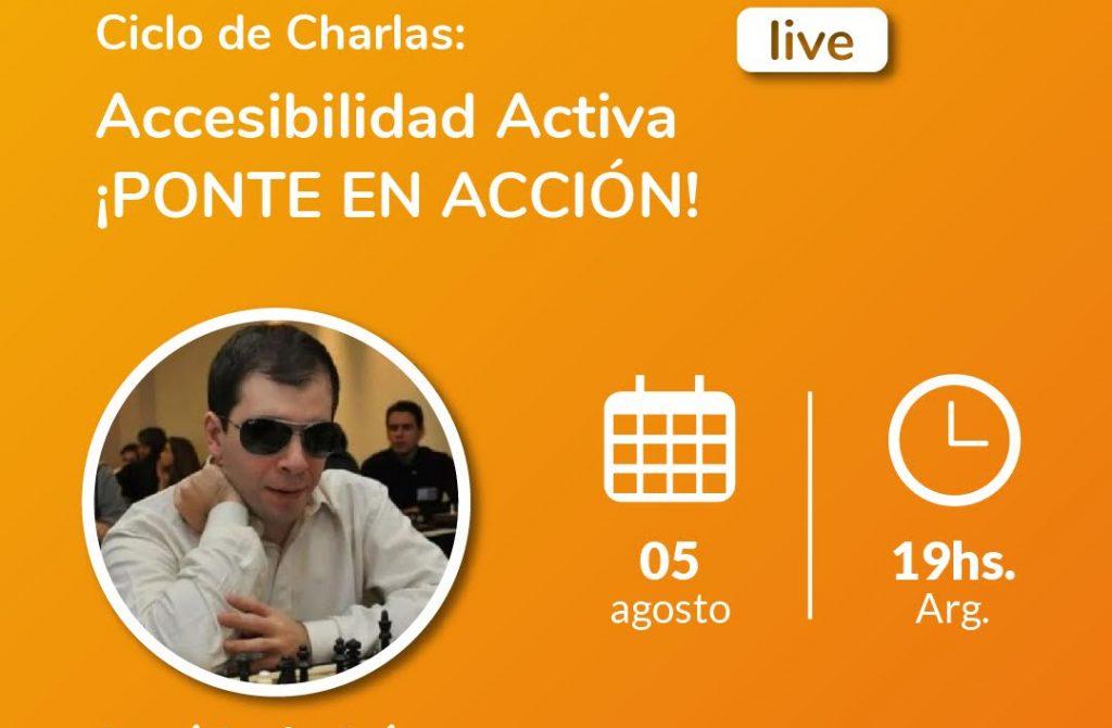 Advertising image of José Luis López in Accesibilidad Activa - ¡Ponte en acción! Fundación Comparlante logo.